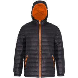 Textiel Heren Dons gevoerde jassen 2786 TS016 Zwart/Oranje