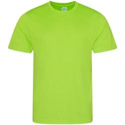 Textiel Heren T-shirts korte mouwen Just Cool Performance Elektrisch Groen