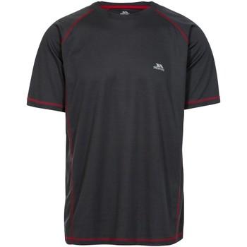 Textiel Heren T-shirts korte mouwen Trespass Albert Zwart