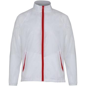 Textiel Heren Windjacken 2786  Wit/rood