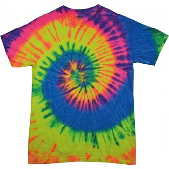 Textiel Dames T-shirts korte mouwen Colortone Rainbow Neon Regenboog