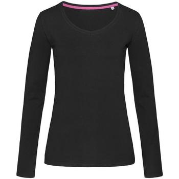 Textiel Dames T-shirts met lange mouwen Stedman Stars Claire Zwart Opaal
