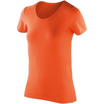 Textiel Dames T-shirts korte mouwen Spiro Softex Mandarijn