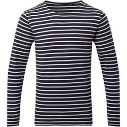 Textiel Heren T-shirts met lange mouwen Asquith & Fox AQ070 Marine / Wit