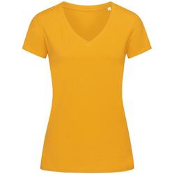 Textiel Dames T-shirts korte mouwen Stedman Stars Janet Geel