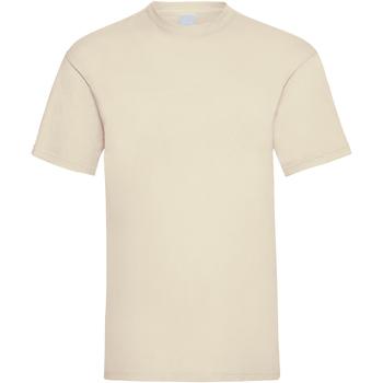 Textiel Heren T-shirts korte mouwen Universal Textiles Casual Beige