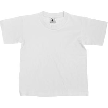 Textiel Kinderen T-shirts korte mouwen B And C Exact Wit