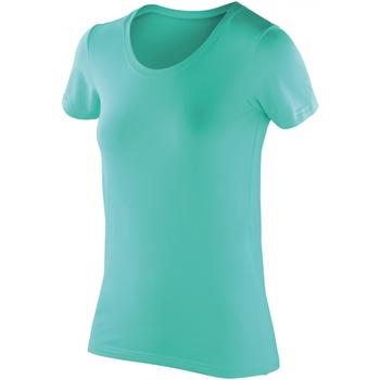 Textiel Dames T-shirts korte mouwen Spiro Softex Pepermunt