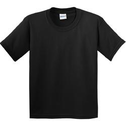 Textiel Kinderen T-shirts korte mouwen Gildan Soft Style Zwart