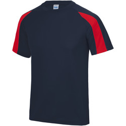 Textiel Kinderen T-shirts korte mouwen Just Cool Contrast Franse marine / vuurrood