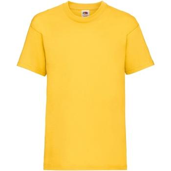 Textiel Kinderen T-shirts korte mouwen Fruit Of The Loom 61033 Zonnebloem Geel