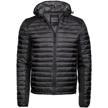 Textiel Heren Dons gevoerde jassen Tee Jays TJ9610 Jet Zwart/Zwarte Melange