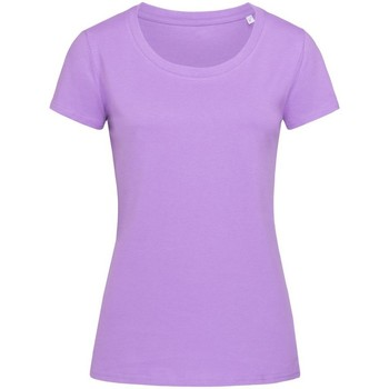 Textiel Dames T-shirts korte mouwen Stedman Stars Organic Lila