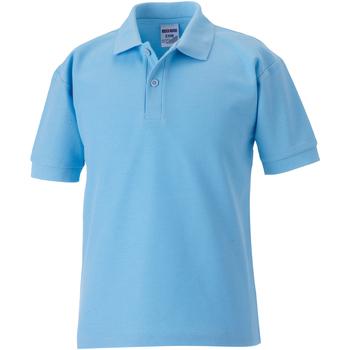 Textiel Jongens Polo's korte mouwen Jerzees Schoolgear Pique Hemelsblauw