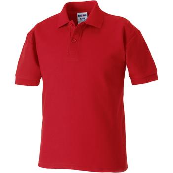 Textiel Jongens Polo's korte mouwen Jerzees Schoolgear Pique Klassiek rood