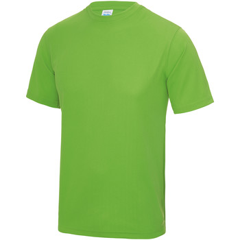 Textiel Heren T-shirts korte mouwen Just Cool Performance Kalk groen