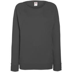 Textiel Dames Sweaters / Sweatshirts Fruit Of The Loom Raglan Licht Graphite
