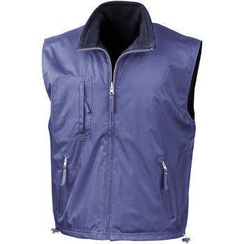Textiel Heren Vesten / Cardigans Result Reversible Royal/ Navy