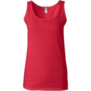 Textiel Dames Mouwloze tops Gildan Soft Style Kersenrood
