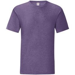 Textiel Heren T-shirts korte mouwen Fruit Of The Loom 61430 Heather Paars