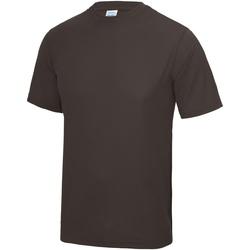 Textiel Heren T-shirts korte mouwen Awdis Performance Warme chocolade