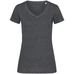 Textiel Dames T-shirts korte mouwen Stedman Stars Melange Houtskool Heide Grijs