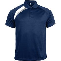 Textiel Heren Polo's korte mouwen Kariban Proact Proact Marine / Wit / Stormgrijs