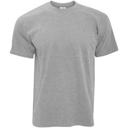 Textiel Heren T-shirts korte mouwen B And C Exact 190 Sport Grijs