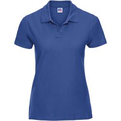 Textiel Dames Polo's korte mouwen Russell Classics Helder Koninklijk