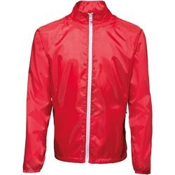 Textiel Heren Windjacken 2786  Rood/wit