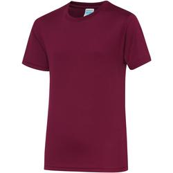 Textiel Kinderen T-shirts korte mouwen Awdis JC01J Bourgondië