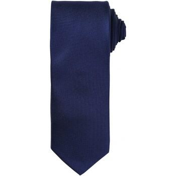 Textiel Heren Krawatte und Accessoires Premier Waffle Marine