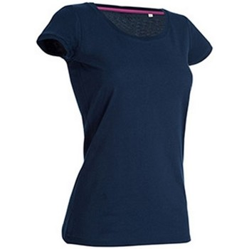 Textiel Dames T-shirts korte mouwen Stedman Stars Megan Jachthaven Blauw