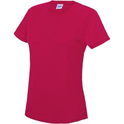 Textiel Dames T-shirts korte mouwen Just Cool JC005 Heet Roze