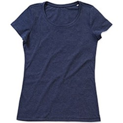 Textiel Dames T-shirts korte mouwen Stedman Stars Lisa Marine Heide