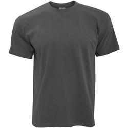 Textiel Heren T-shirts korte mouwen B And C Exact 190 Donker Grijs