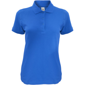 Textiel Dames Polo's korte mouwen B And C Safran Koningsblauw