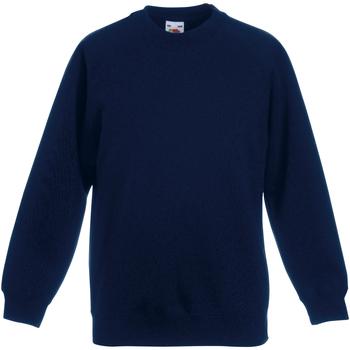 Textiel Kinderen Sweaters / Sweatshirts Fruit Of The Loom Raglan Donker Marine
