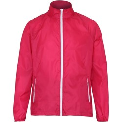 Textiel Heren Windjacken 2786 TS011 Heet Roze/Wit