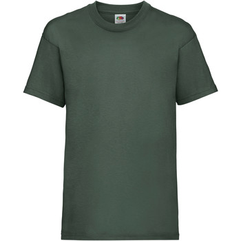 Textiel Kinderen T-shirts korte mouwen Fruit Of The Loom 61033 Bottle Groen