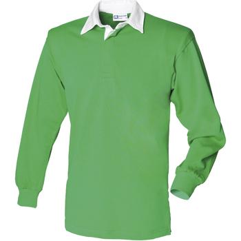 Textiel Heren Polo's lange mouwen Front Row Rugby Helder groen/wit