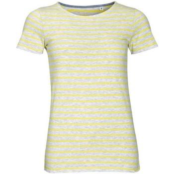 Textiel Dames T-shirts korte mouwen Sols Striped As/Lemon