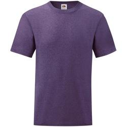 Textiel Heren T-shirts korte mouwen Fruit Of The Loom Valueweight Heather Paars