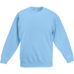 Textiel Kinderen Sweaters / Sweatshirts Fruit Of The Loom Classic Hemel Blauw