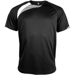 Textiel Heren T-shirts korte mouwen Kariban Proact Proact Zwart / Wit / Stormgrijs