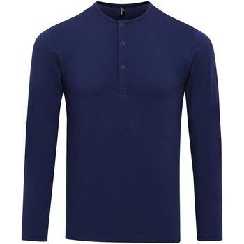 Textiel Heren T-shirts met lange mouwen Premier Long John Indigo