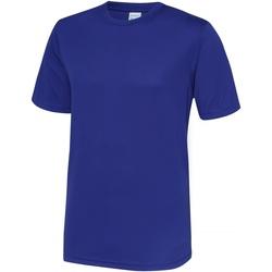 Textiel Heren T-shirts korte mouwen Awdis Performance Reflex Blauw