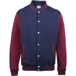 Textiel Kinderen Wind jackets Awdis Varsity Marine Oxford / Bourgondië