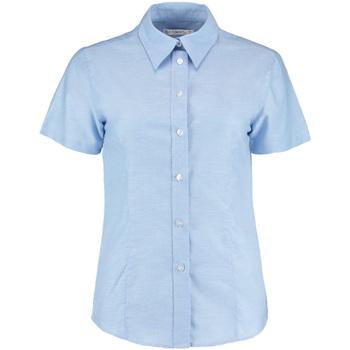 Textiel Dames Overhemden Kustom Kit Oxford Lichtblauw