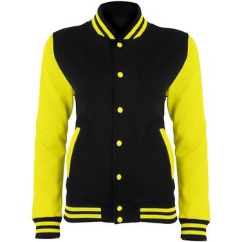 Textiel Dames Wind jackets Awdis JH044 Straalzwart/Elektrisch Geel